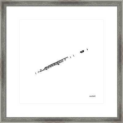 Magic Flute In White Framed Print by David Bridburg