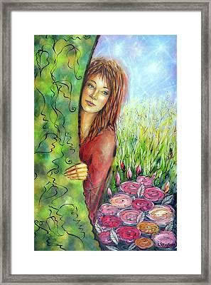 Magic Garden 021108 Framed Print by Selena Boron
