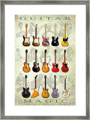 Magic Guitars Framed Print by Pg Reproductions