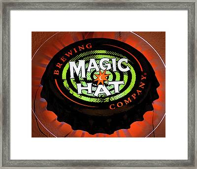 Magic Hat Neon Beer Sign Framed Print by David Lee Thompson