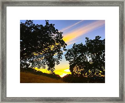 Magic Hour Sunset Framed Print