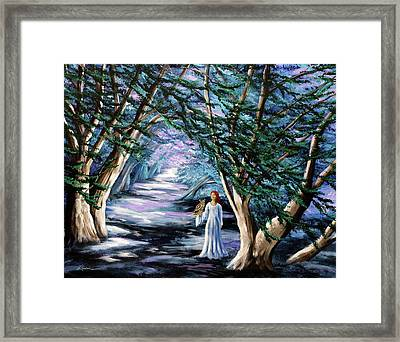 Magic In Cypress Woods Framed Print by Laura Iverson