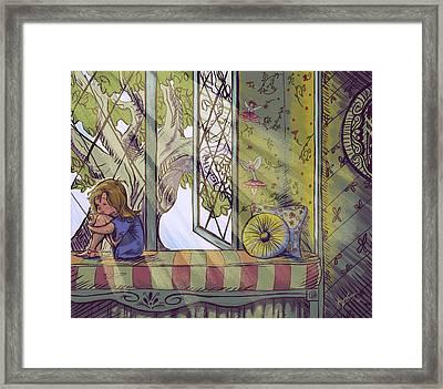 Magic Is Real Framed Print by Abigail Kraft