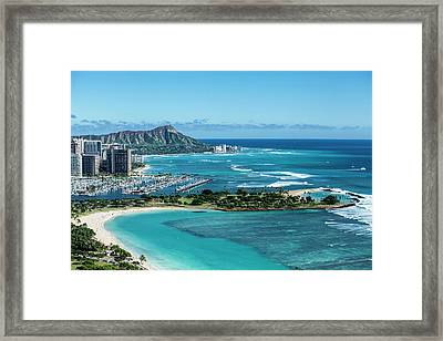 Magic Island To Diamond Head Framed Print