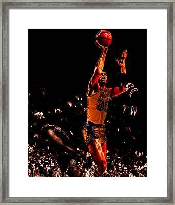 Magic Johnson Lean Back II Framed Print by Brian Reaves