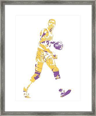 Magic Johnson Los Angeles Lakers Pixel Art 5 Framed Print