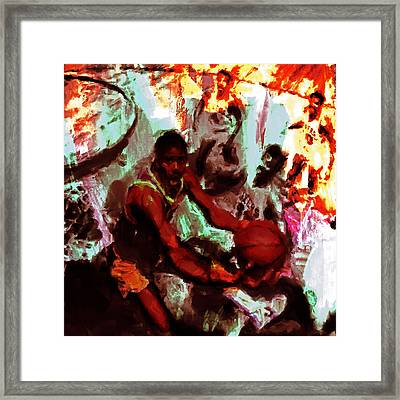 Magic Johnson Taking Flight Framed Print