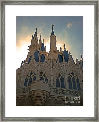 Magic Kingdom - Cinderella Castle Framed Print
