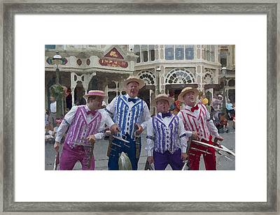 Magic Kingdom Main Street Quartet Framed Print by Christopher Purcell