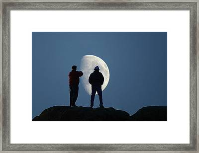 Magic Landscapes 2 -- Moon Men Framed Print by Rick Lawler