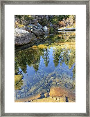 Magic Light On Big Silver Framed Print