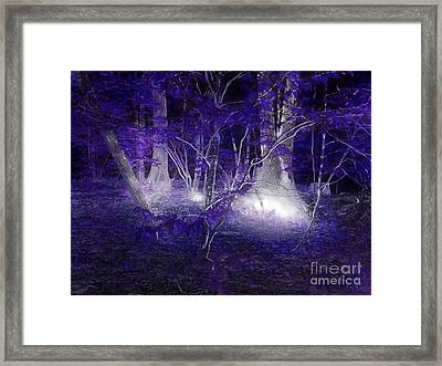 Magic Lives Within The Forest Framed Print