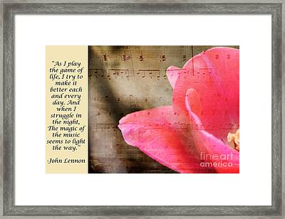 Magic Of Music Framed Print