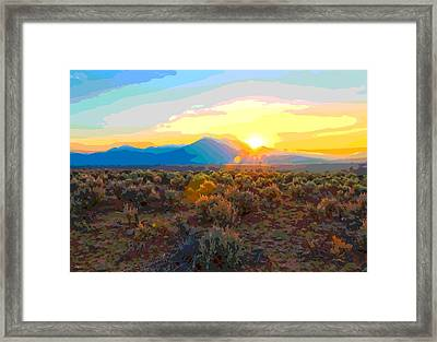 Magic Over Taos Framed Print