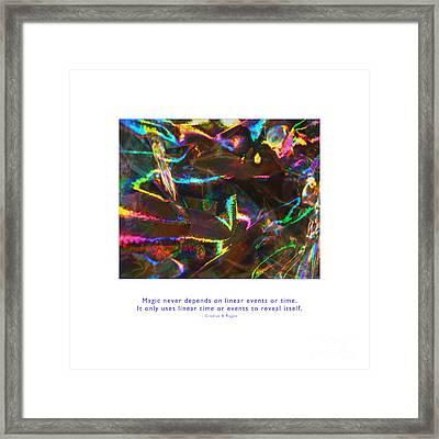 Framed Print featuring the photograph Magic Reveals Itself by Kristen Fox