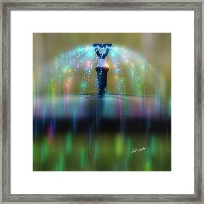 Magic Sprinkler Streaking Framed Print