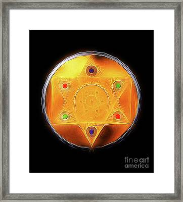 Magic Symbol By Raphael Terra Framed Print