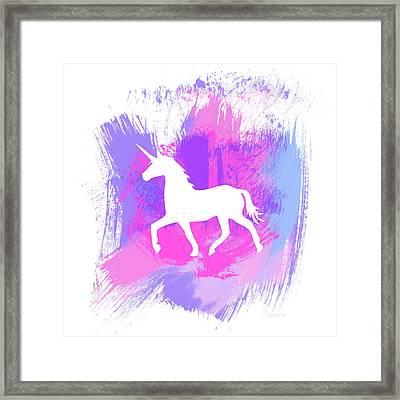 Magic Unicorn 1- Art By Linda Woods Framed Print