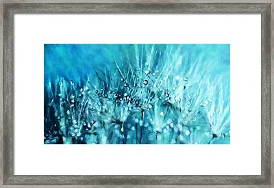 Magical Array Of Blue Framed Print by Georgiana Romanovna