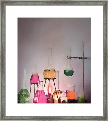 Magical Beakers Framed Print