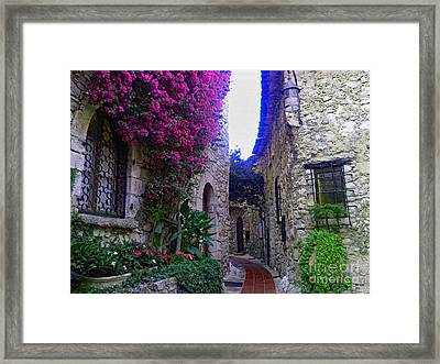 Magical Beauty In Eze France Framed Print