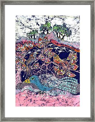 Magical Birds Framed Print by Carol  Law Conklin