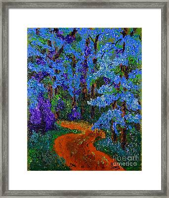 Magical Blue Forest Framed Print