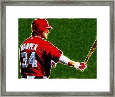 Magical Bryce Harper Framed Print by Paul Van Scott