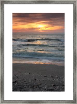 Magical Captiva Beach Sunset Framed Print by Larry Federman