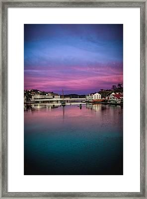 Magical Colors In Mandal Framed Print