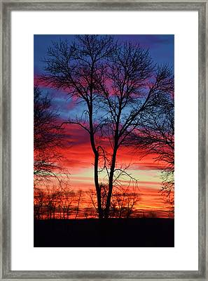 Magical Colors In The Sky Framed Print