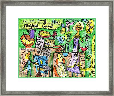 Magical Cookies A Collaboration With Eva Miller Framed Print by Susan  Shie