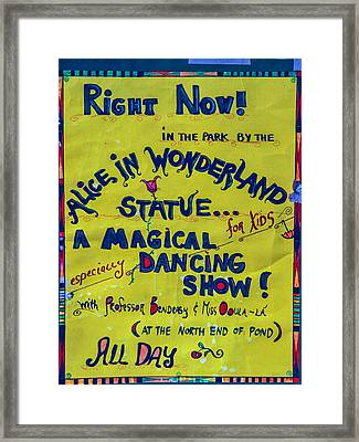 Magical Dancing Show Poster Framed Print by Cornelis Verwaal