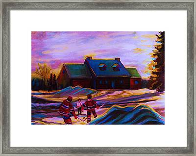 Magical Day For Hockey Framed Print