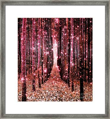 Magical Forest Pink Peach Framed Print
