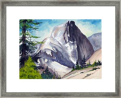 Framed Print featuring the painting Magical Half Dome by Pat Crowther