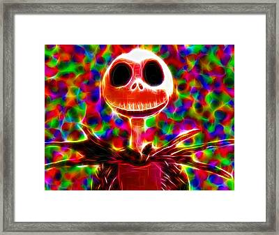 Magical Jack Skellington Framed Print by Paul Van Scott