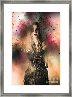Magical Jester Casting A Medieval Spell Framed Print by Jorgo Photography - Wall Art Gallery