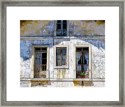 Framed Print featuring the photograph Magical Light On Sintra Windows by Marion McCristall
