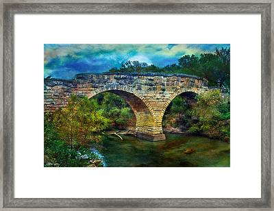 Magical Middle Of Nowhere Bridge Framed Print