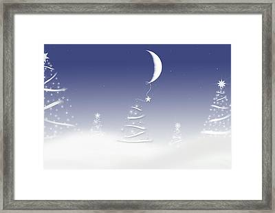 Magical Moon Framed Print by Maria Dryfhout