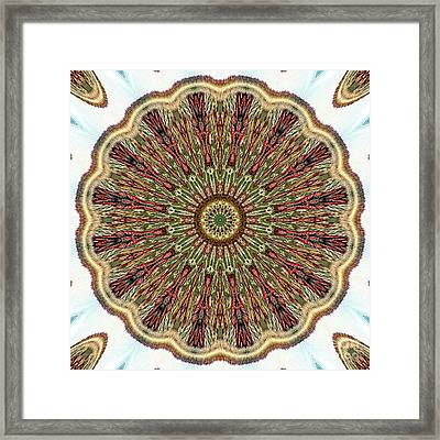 Magical Mosaic - Shamanic Power Circle 1 Framed Print by Sofia Metal Queen