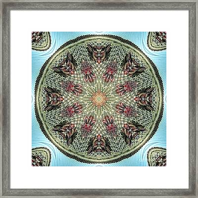 Magical Mosaic - Shamanic Power Circle 2 Framed Print by Sofia Metal Queen