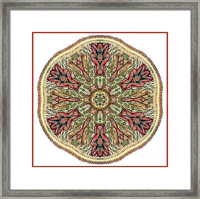 Magical Mosaic - Shamanic Power Circle 3 Framed Print by Sofia Metal Queen
