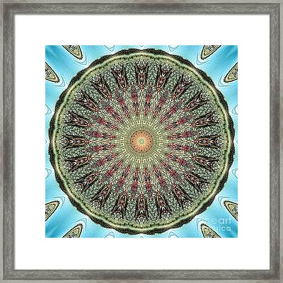 Magical Mosaic - Shamanic Power Circle 4 Framed Print by Sofia Metal Queen