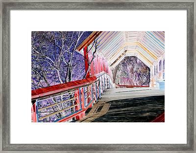 Magical Mystery Bridge Framed Print