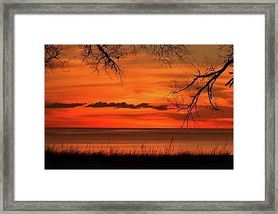 Magical Orange Sunset Sky Framed Print