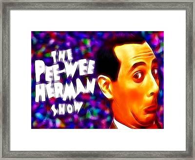 Magical Pee Wee Herman Framed Print by Paul Van Scott