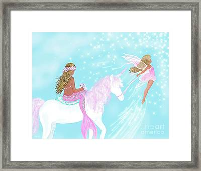 Framed Print featuring the painting Magical Play Day by Leslie Allen