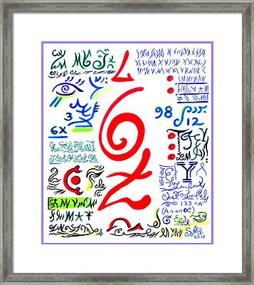 Magical Power Of Six And Seven Framed Print